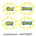 phrases written in a cartoon... | Shutterstock .eps vector #466733837