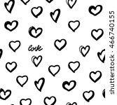 seamless background hearts.... | Shutterstock . vector #466740155