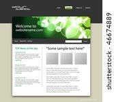 web site design template ...   Shutterstock .eps vector #46674889