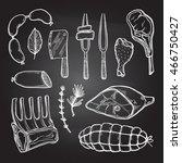 hand drawn vector illustration  ... | Shutterstock .eps vector #466750427