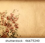 Old Flower Paper Textures  ...
