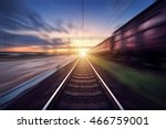 railway station with cargo... | Shutterstock . vector #466759001