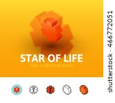 star of life color icon  vector ...