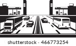 petrol stations on both sides... | Shutterstock .eps vector #466773254