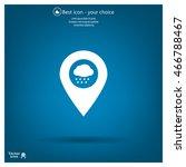 cloud rain icon map pin   Shutterstock .eps vector #466788467