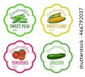 set of vector labels with hand...   Shutterstock .eps vector #466792037