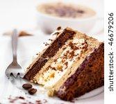 Coffee Cake. Piece Of Cake On A ...