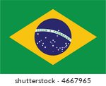 accurate flag of brazil in... | Shutterstock .eps vector #4667965