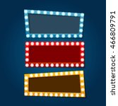 retro lighting  banner with... | Shutterstock .eps vector #466809791
