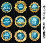 golden badges and labels retro... | Shutterstock .eps vector #466811987