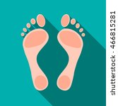 human feet icon in flat style... | Shutterstock .eps vector #466815281