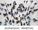 crowds of people in an urban... | Shutterstock . vector #46682341