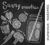 recipe illustration smoothie ... | Shutterstock .eps vector #466824401