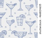 alcohol cocktail pattern... | Shutterstock .eps vector #466824635