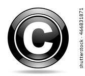 copyright black glossy icon | Shutterstock . vector #466831871