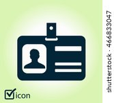 identification card icon. flat... | Shutterstock .eps vector #466833047