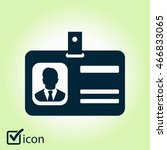 identification card icon. flat... | Shutterstock .eps vector #466833065