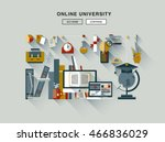 flat web design one page... | Shutterstock .eps vector #466836029
