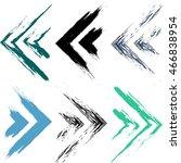 cute vector geometric seamless... | Shutterstock .eps vector #466838954