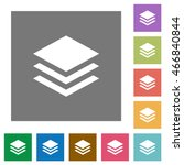 layers flat icon set on color... | Shutterstock .eps vector #466840844