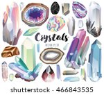 crystals  gems  and stones... | Shutterstock .eps vector #466843535