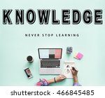 skills practice learning study... | Shutterstock . vector #466845485