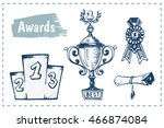 sketch icons   awards  trophy ... | Shutterstock .eps vector #466874084