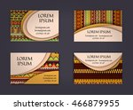 business card or visiting card... | Shutterstock .eps vector #466879955