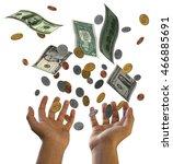 3d Falling Dollars