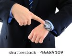boss is checking the late... | Shutterstock . vector #46689109