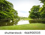 Landscape In City Park With...