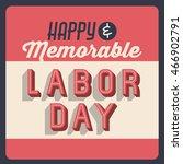 happy labor day icon vector... | Shutterstock .eps vector #466902791