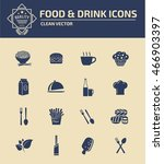 food icon drink icon set vector | Shutterstock .eps vector #466903397
