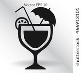 flat cocktail icon. | Shutterstock .eps vector #466913105