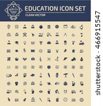 education and science icon set ... | Shutterstock .eps vector #466915547