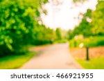 blurred walkway in city park... | Shutterstock . vector #466921955