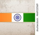india patriotic tag and ribbon | Shutterstock .eps vector #466923569