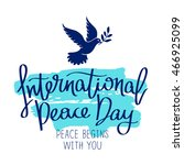 International Day Of Peace....