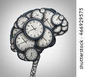 time brain thinking concept as... | Shutterstock . vector #466929575