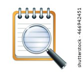 search concept with check list... | Shutterstock .eps vector #466942451