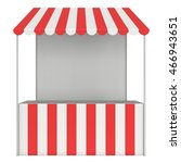 market stand kiosk stall with... | Shutterstock . vector #466943651