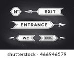 vintage arrows and banners with ... | Shutterstock . vector #466946579