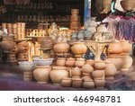 clay pots stacked for sale at a ...   Shutterstock . vector #466948781