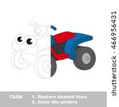 toy quad bike in vector to be... | Shutterstock .eps vector #466956431
