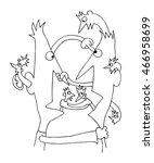 conflict communication cartoon... | Shutterstock .eps vector #466958699