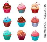 sweet cupcake  food cupcake... | Shutterstock .eps vector #466961015