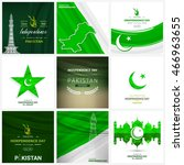 14 august. pakistan... | Shutterstock .eps vector #466963655