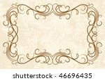 vintage frames for text. | Shutterstock .eps vector #46696435