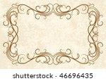 vintage frames for text. | Shutterstock .eps vector #46696435