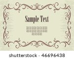 vintage frames for text. | Shutterstock .eps vector #46696438